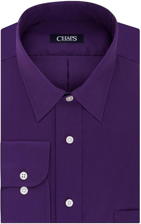 Chaps Men's Regular-Fit Wrinkle Free Stretch Collar Dress Shirt