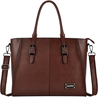 Laptop Tote Bag,Designer Laptop Bags for Women Professional Briefcase Large Work Tote Bag(Coffee)