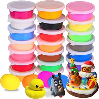 Mumoo Bear 24 Colors Air Dry Clay Ultra Light Modeling Soft Clay Set with Modeling Tools and Project, NoSticky and NonToxi...