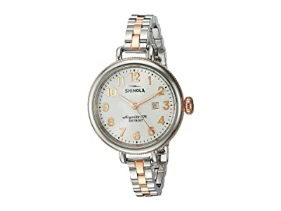 Shinola Detroit The Birdy 34mm 20001100 (Pearl White/Stainless Steel/Rose Gold) Watches