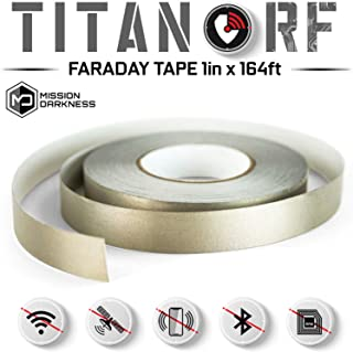 TitanRF Faraday Tape - High-Shielding Conductive Adhesive Tape // Used to Connect TitanRF Fabric Sheets or Seal RF Enclosures (1 inch W x 164 feet L)