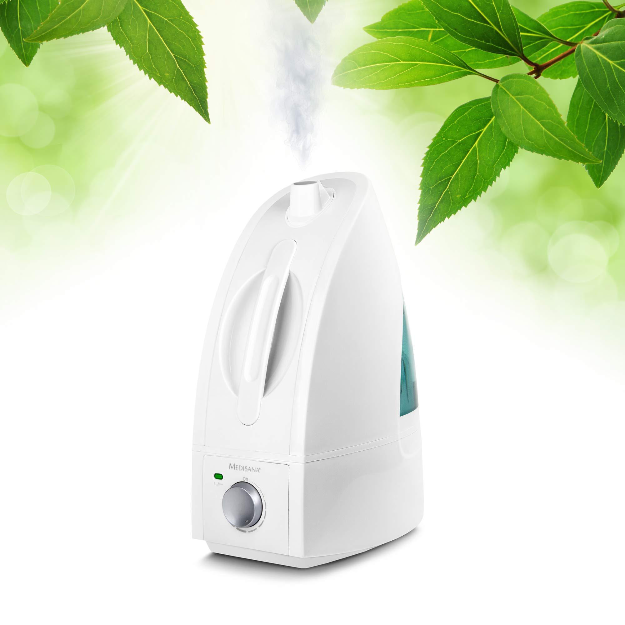 Medisana AH 660 Humidificador ultrasónico, purificador de aire para habitaciones de hasta 30m², nebulizador para dormitorios, sala de estar contra aire seco, 4,5 litros: Amazon.es: Hogar