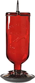 Best Perky-Pet 8109-2 Antique Glass Bottle Hummingbird Feeder-16-Ounce Capacity, Red Reviews