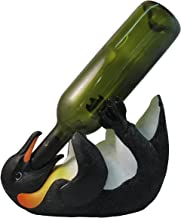 Playful Antarctic Penguin Wine Bottle Holder By DWK | Tabletop South Pole Decor And Centerpiece