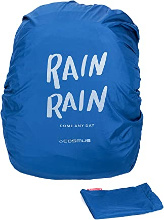 COSMUS Polyester Navy Blue Rain and Dust Cover with Pouch for Laptop Bags and Backpacks
