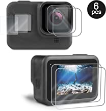 Kupton Screen Protector for GoPro Hero 8 Black 6 Pcs, Ultra Clear Tempered Glass Screen..