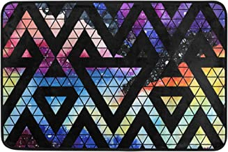 Mydaily Galaxy Triangles Geometric Shapes Doormat 15.7 x 23.6 inch, Living Room Bedroom Kitchen Bathroom Decorative Lightw...