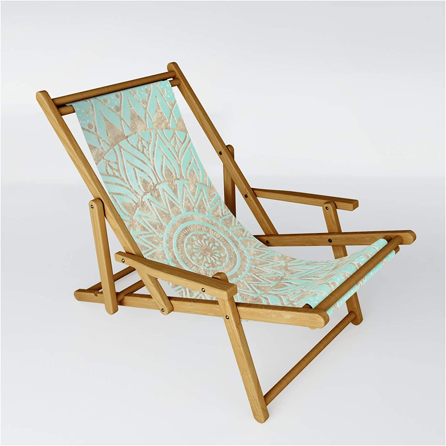 Limited time sale Society6 Mint Limited Special Price and Gold Mandala by on Inovarts Sling - Chair One