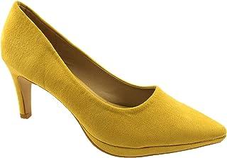 Amazon.co.uk: Yellow - Court Shoes