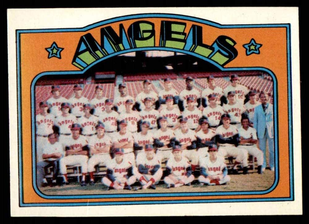 1972 Topps # 71 Angels List price Price reduction Team Los Card N Baseball Angeles