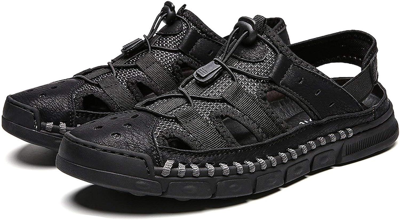 2019 ny Comfortable Handgjorda Män Sandals Genuine läder Soft Soft Soft sommar Mans skor Retro Sew Casual strand skor Big Storlek 38 -46  garanterat