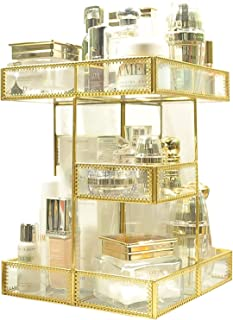 Hengqiyuan Organisateur de Maquillage Rotatif à 360 degrés, Rangement de Maquillage réglable, unité de Rangement cosmétiqu...