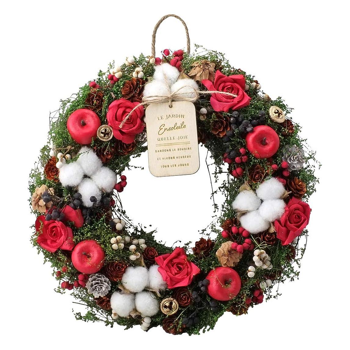 アサー乗り出す永続Lulu's ルルズ クリスマス リース ナチュラルリース ドライフラワー Lサイズ マスターピース サイズ:310×70×310高さmm Lulu's-0409 CM1046-A
