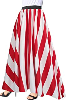 Best striped red skirt Reviews
