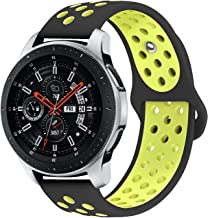 KADES Galaxy Watch 46mm Bands, Gear S3 Bands, 22mm Universal Replacement Strap with Quick Release Pin Compatible for TicWatch Pro, Amazfit Stratos Smart Watch (Black Yellow)