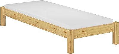 Erst-Holz Lit futon pin Massif 90x200 Design Moderne sans tête de lit avec sommier et Matelas 60.35-09M