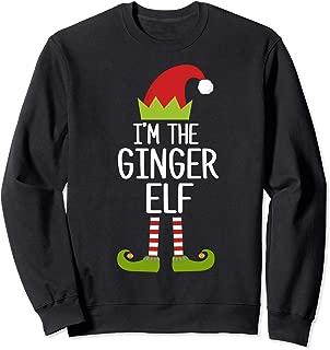 Family Matching Christmas Xmas Gifts I'm The Ginger Elf Sweatshirt