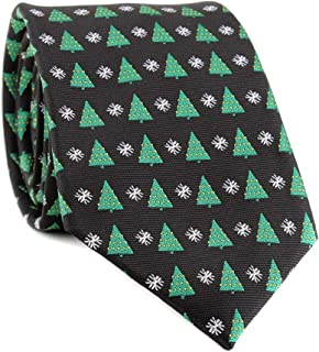 Men's Polyester Microfiber Tie Christmas Necktie Handmade Xmas Design Ties for Men Various Pattern