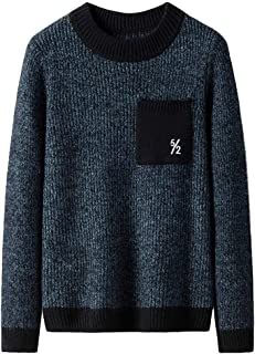 2019 3XL Winter Sweaters Fo Men Graphic Big and Tall Fashion Thermal Casual Print Slim Knnited Crewneck Jumper Tops