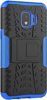 Tianqin Funda Samsung Galaxy J2 Core, Ultra Delgado Anti Caída Protección Dual Layer Bumper 2 in1 Híbrida Rugged Case Antideslizante Soporte Cover para Samsung Galaxy J2 Core - Azúl