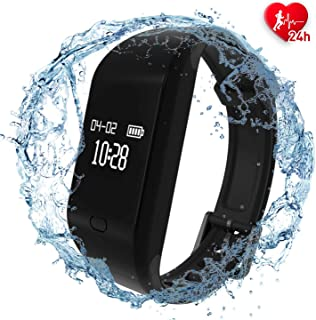 Fitpolo Fitness Tracker,Health Smart Watch Heart Rate Monitor, Waterproof Activity Tracker with Sleep Monitor, Step &Calorie Counter,Pedometer, Wristband for Kids Women Men, Android iOS Phones