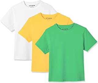 Kid Nation Kids' 2-Pack Spandex Jersey Soft Cotton Short-Sleeve Crew-Neck Tee for Boys or Girls