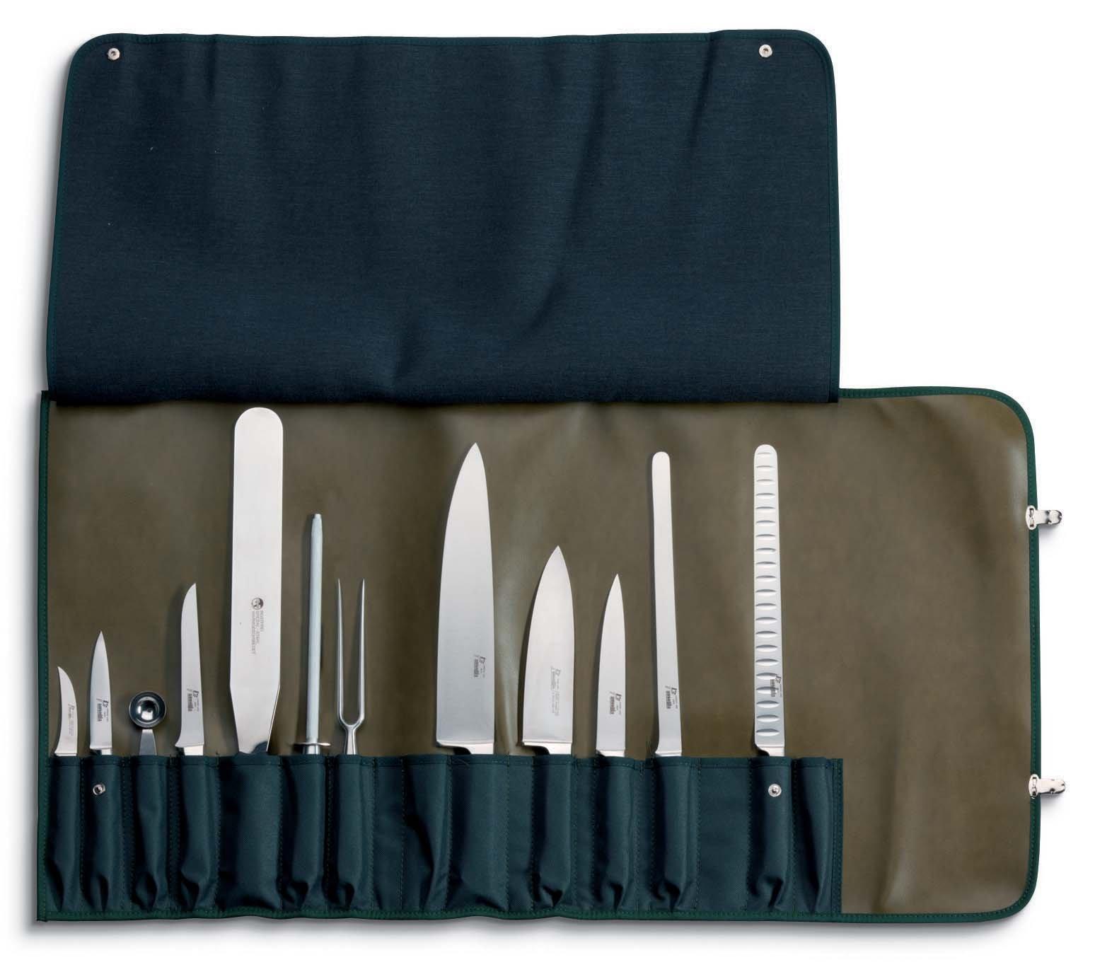 Compra AUSONIA - 96250 Juego DE Estuche Reforzado Profesional DE Cocinero con 10 Unidades DE Cuchillos DE Acero Inoxidable FORJADOS en Amazon.es
