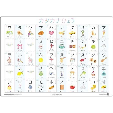 アンシャンテのカタカナひょう【KATAKANA CHART】A3・角丸・防水