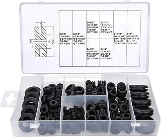 Kit de Surtido de Arandelas de Goma Conjunto de Anillos de Junta de Conductor Electrico para Alambre, Enchufe y Cable, 180 Piezas