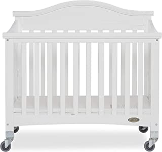 Dream On Me Venice Folding Portable Crib, White