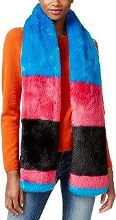 xox Trolls Faux-Fur Colorblocked Muffler, Multicolor