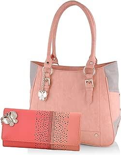 Butterflies Women's Handbag and Wallet Combo (Multicolour)