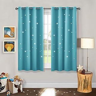 amazon fr rideaux bleu turquoise