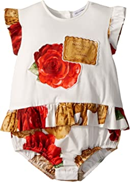 Biscotti Print Romper (Infant)