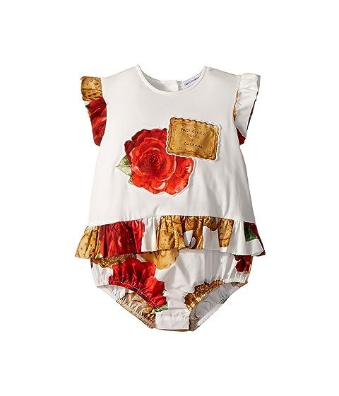 Dolce & Gabbana Kids Biscotti Print Romper (Infant)