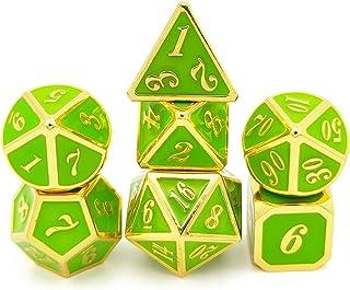 Dice, GoolRC 7PCS Multi Dimensional Dice Zinc Alloy Dice Entertainment Gambling Playing Dice Set Game Accessories