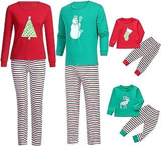 16c2b3fdb8 Family Matching Pajamas Cartoon Tree Top+Stripe Sleepwear Christmas Family  Casual Sleepwear Pajamas Matching Sets