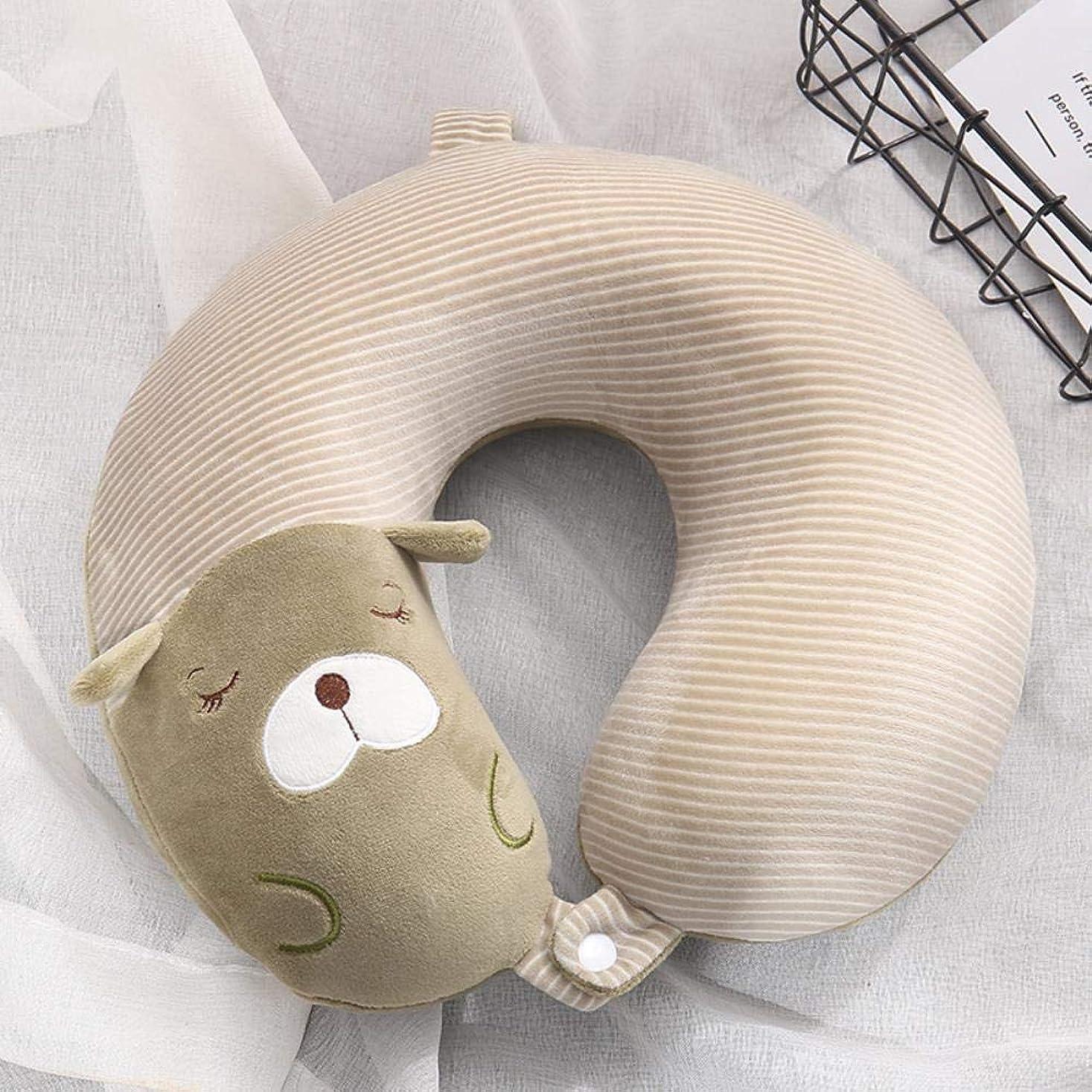 協力誓いユニークなあなたは、クロスボーダーの漫画のU-メモリ泡の枕の首枕飛行機旅行枕首枕首枕保護を気にすることができます,黄緑