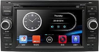Schwarz 7 Zoll 2 Din Autoradio Moniceiver DVD GPS Bluetooth Navigation für Ford C Max/Connect/Fiesta/Focus/Fusion/Galaxy/Kuga S Max/Transit/Mondeo