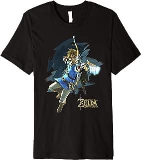 Legend Of Zelda Breath Of The Wild Link Archer Jump Shot C1  Premium T-Shirt