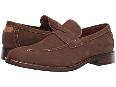 Johnston & Murphy Warner Penny (Brown Tumbled Nubuck) Men