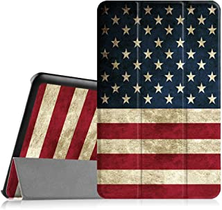 Fintie Slim Case for Samsung Galaxy Tab E 9.6 - Ultra Lightweight Protective Stand Cover for Tab E Wi-Fi/Tab E Nook/Tab E Verizon 9.6-Inch Tablet (SM-T560/T561/T565/T567V),US Flag