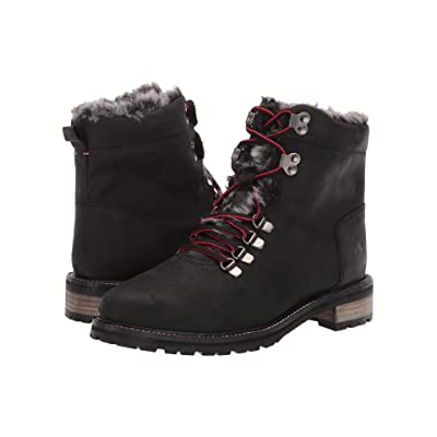 Joules Leather Hiker Boot (Black) Women
