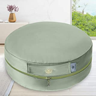 "Florensi Adjustable Meditation Cushion (16""x16""x5""), Large Velvet Meditation Pillow, Premium Yoga Pillow for Women and Men..."