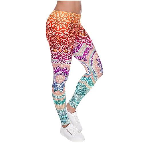 05f2b21cdc8f74 Ayliss Women Leggings Digital Print Yoga Skinny Pants High Waist Gym  Elastic Tights
