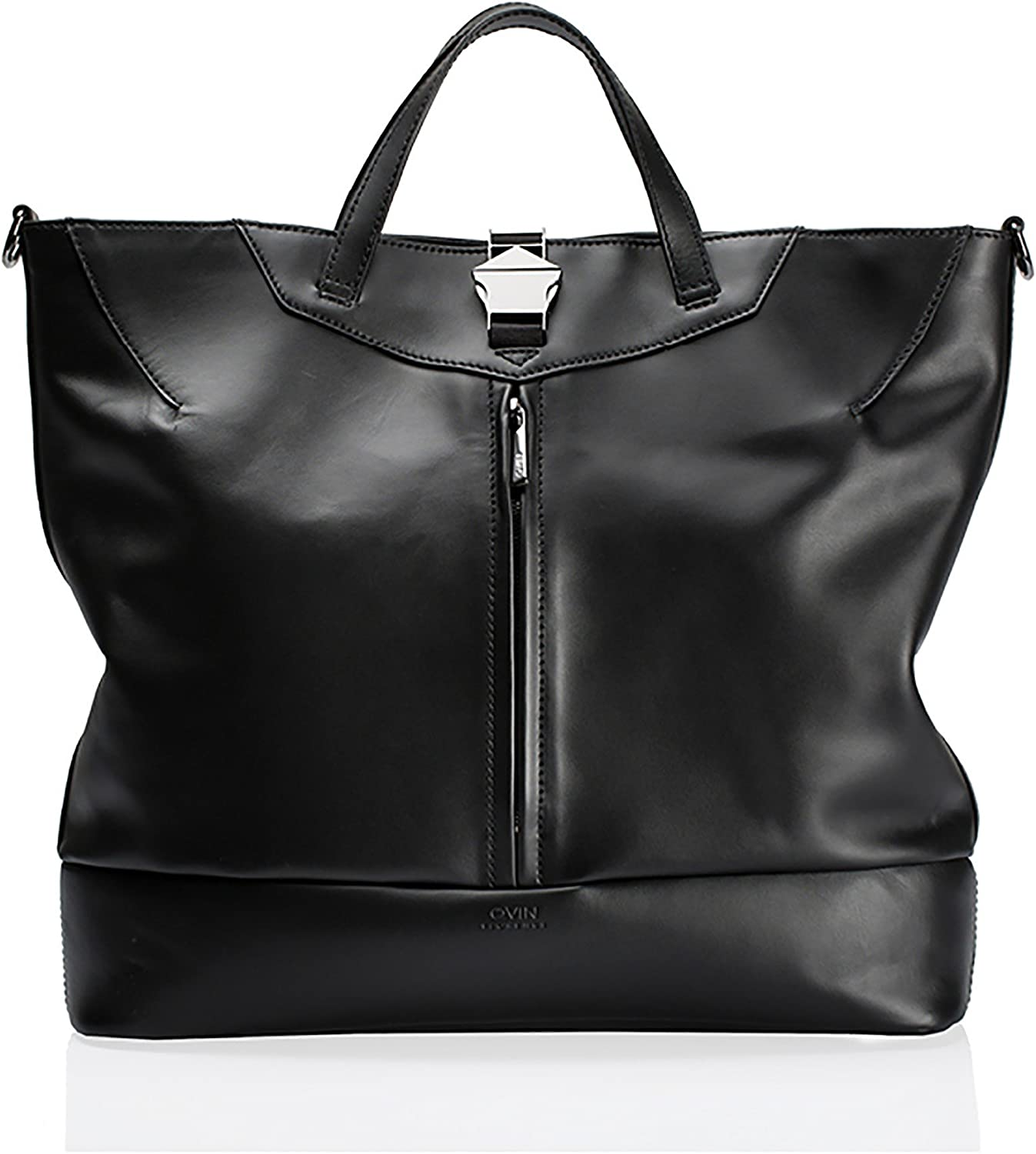 Qvin  Elements  Tote in Black Leather
