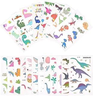 EKKONG Dinosaurie tillfälliga tatueringar, set med barn tatueringar, vattentäta falska tatueringsklistermärken, väskor för...