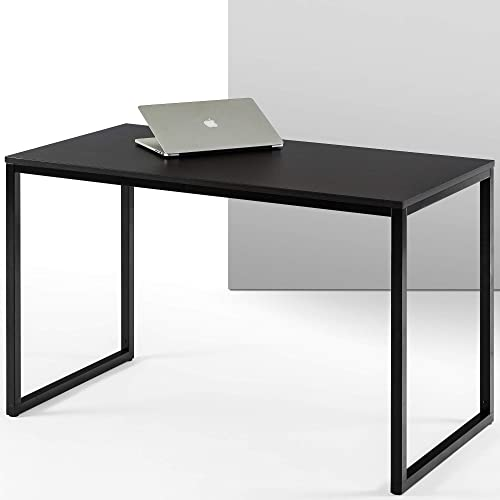 ZINUS Jennifer 47 Inch Black Frame Desk / Computer Workstation / Office Desk / Easy Assembly, Deep Espresso