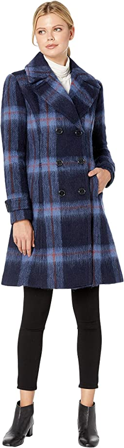Skirted Brushed Plaid Wool