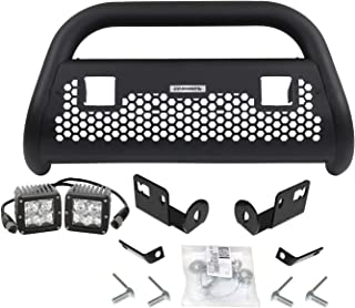 Go Rhino 5596211T RC2 LR Textured Black Front Guard for Ford Complete Kit: Front Guard+Brackets+Lights
